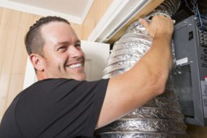 a man doing ductwork in colorado springs